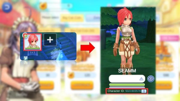 how to find ragnarok m eternal love character id
