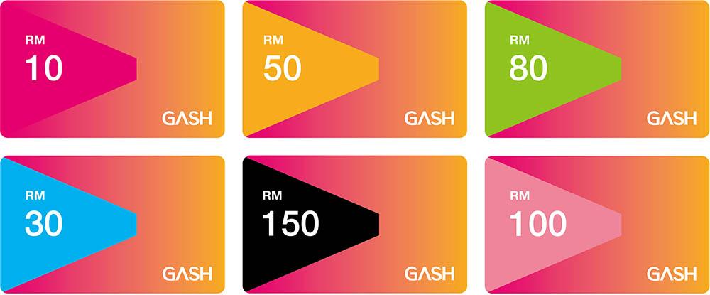 Gash Card Malaysia denominations