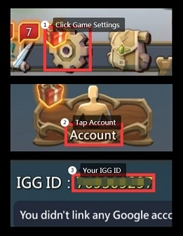How to find lords mobile igg id