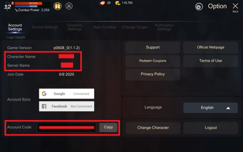 how to find rohanm account code