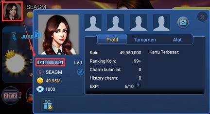 how to find Boyaa Domino Qiuqiu user id