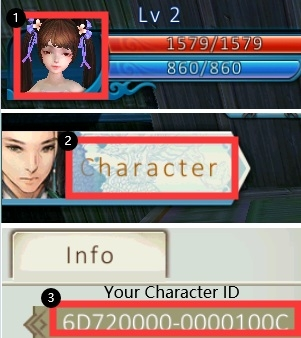 how to find jade dynasty character id