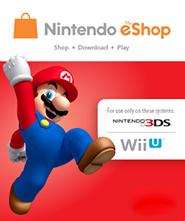 Nintendo Wii U/3DS eShop Prepaid Card