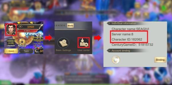 how to find devil hunter eternal war user id