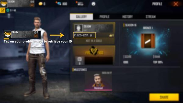 how to find free fire player id
