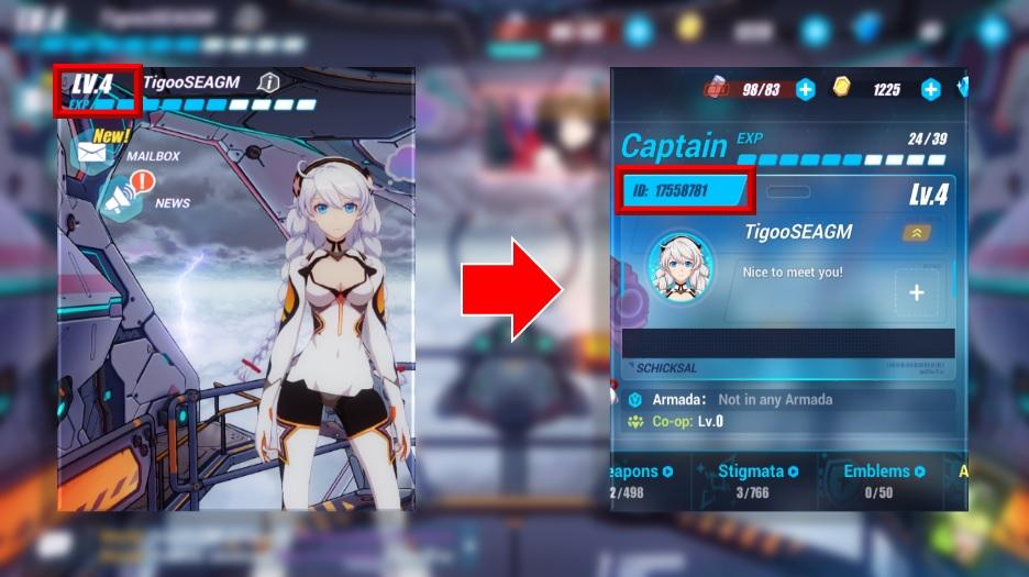 how to find honkai impact 3 player id