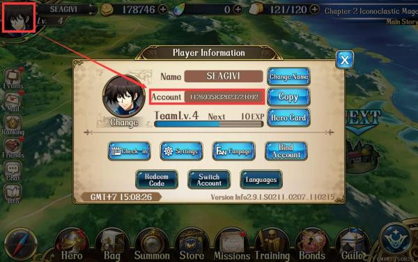 how to find langrisser character id