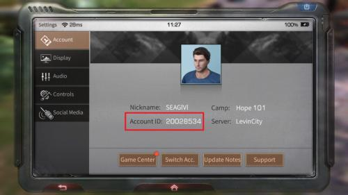 how to lifeafter account id